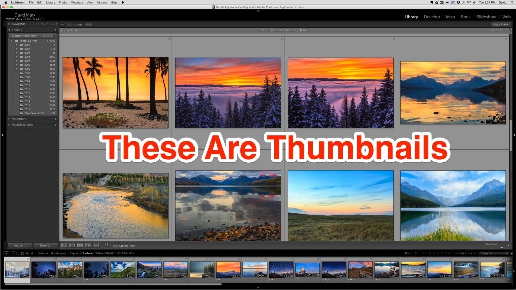 Adobe Photoshop Lightroom Library Module Gird View Thumbnails