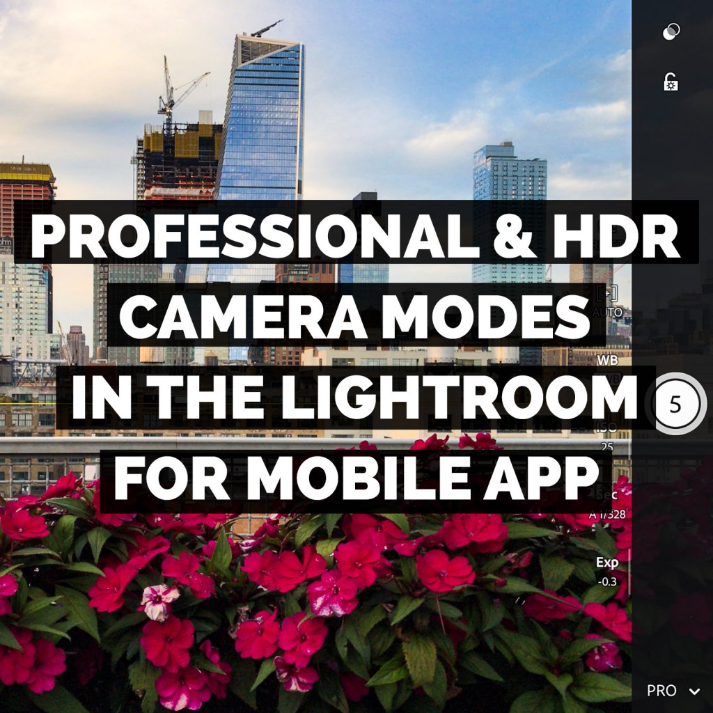 The Professional And HDR Camera Modes In The Adobe Lightroom For Mobile App