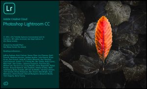 Adobe Photoshop Lightroom CC Splashscreen
