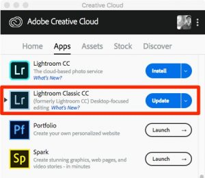 The Lightroom Classic Update In The Adobe Creative Cloud App
