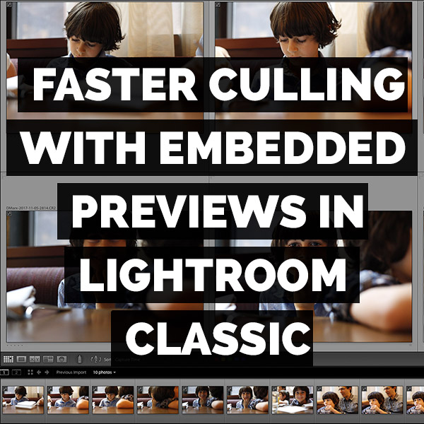 Faster Culling With Embedded Previews In Adobe Lightroom Classic