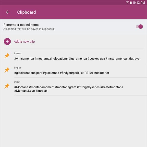 Saved Clips In The SwiftKey Keyboard App