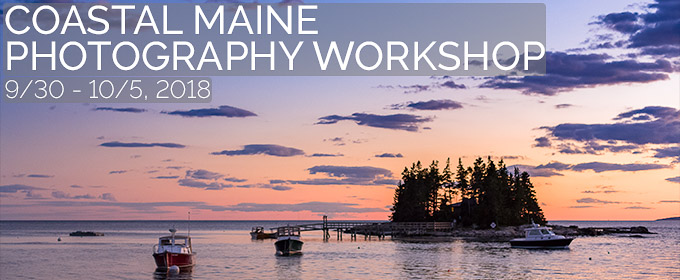 Coastal Maine Photography Workshop 2018 Banner