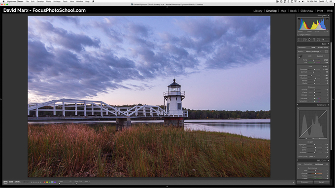 Adobe Photoshop Lightroom Classic Develop Module