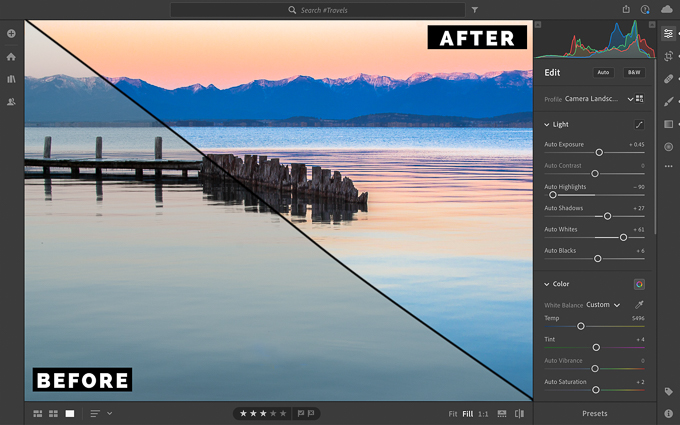 Adobe Lightroom Before After Graphic