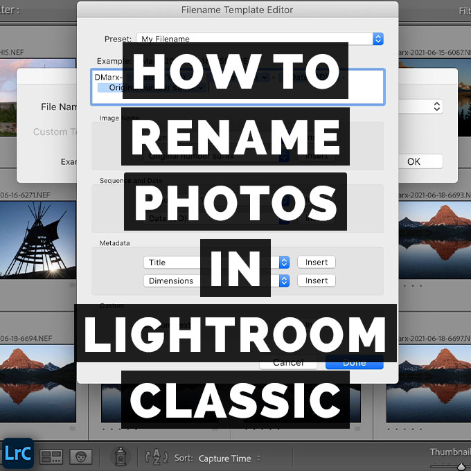 How To Rename Photos And Folders In Adobe Photoshop Lightroom Classic